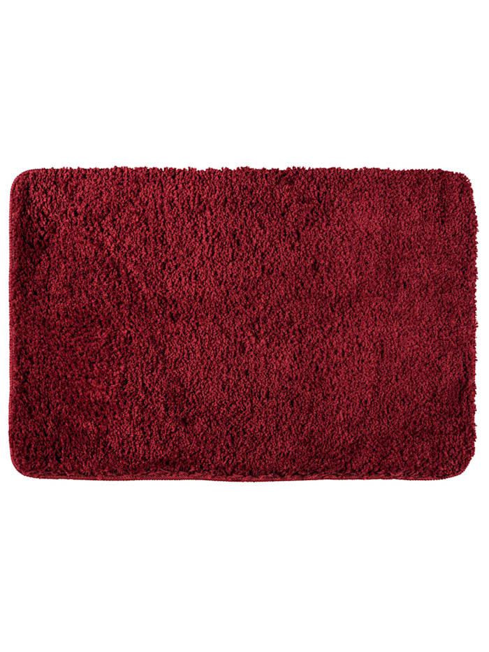 Wenko Badteppich Belize Chili 60 x 90 cm, 60 x 90 cm, Mikrofaser, Polyester/Mikrofaser: Rot