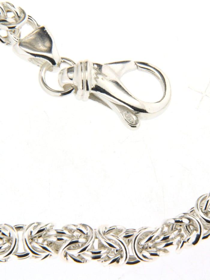 Grazielli Koningsarmband van echt zilver, Wit