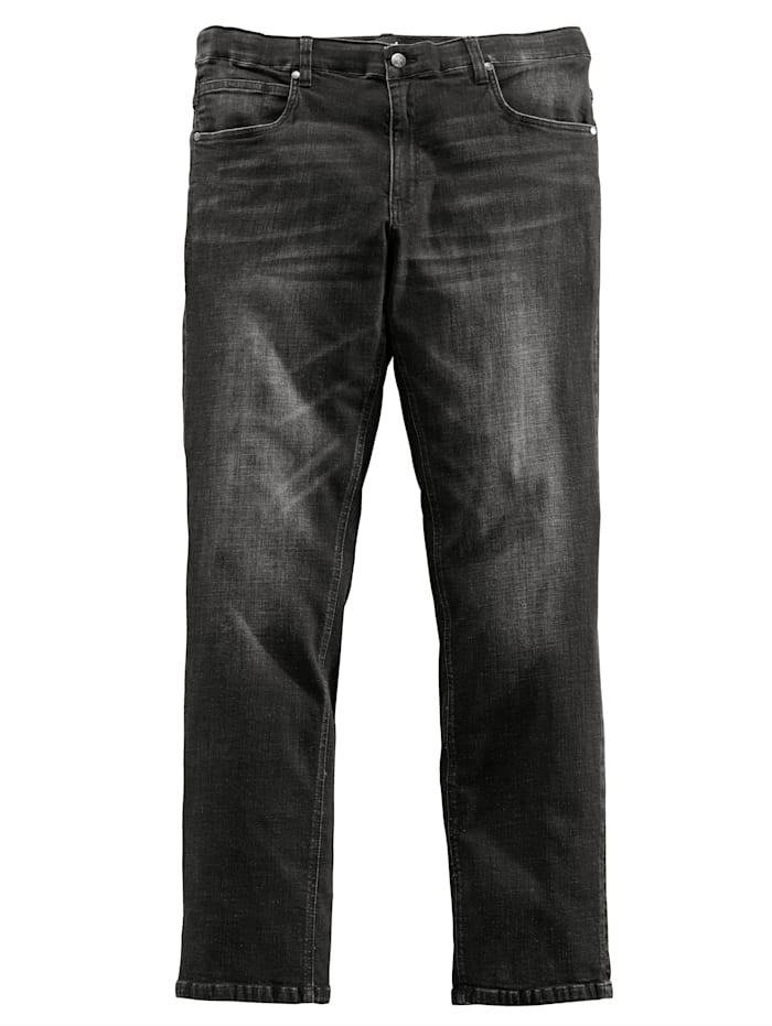 Men Plus Jeans met comfortabele stretchband, Zwart