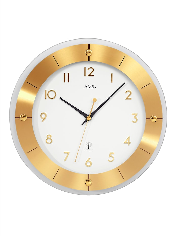 AMS Radiografische klok 5850, Geelgoudkleur/Wit