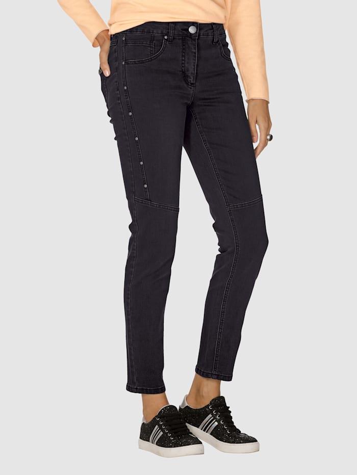 AMY VERMONT Jeans mit Nietendekoration, Black