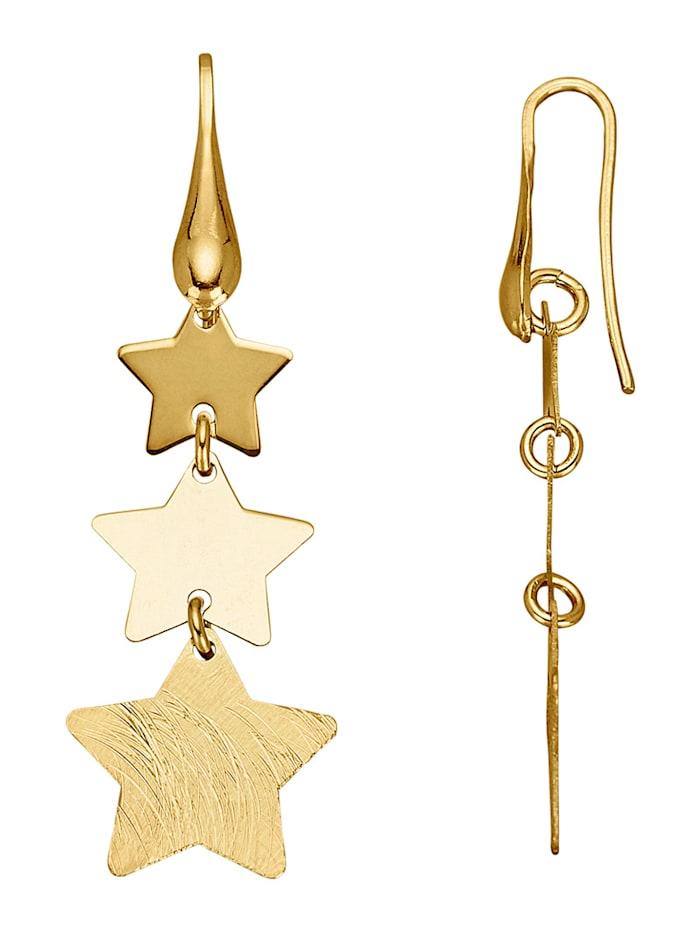 Boucles d'oreilles Étoiles en argent 925, Coloris or jaune
