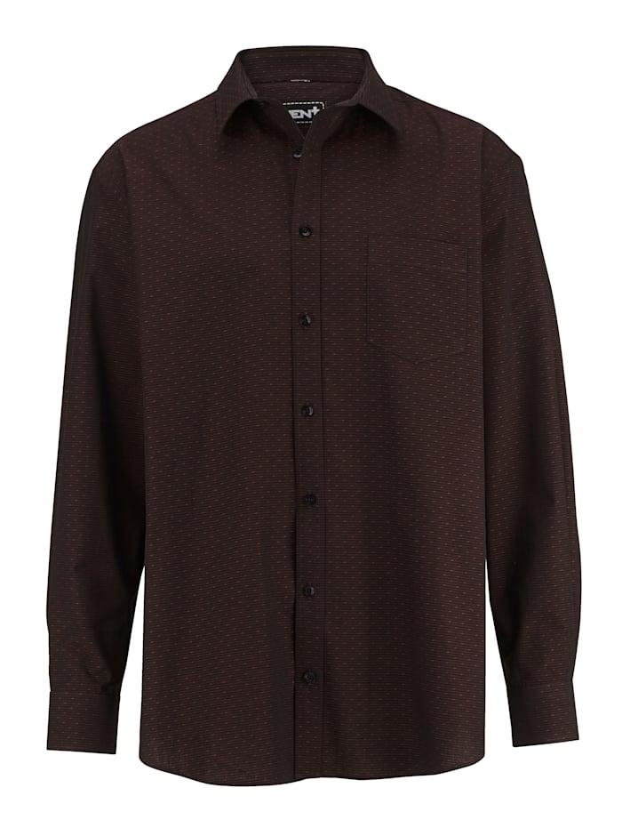 Men Plus Skjorta av bomull, Bordeaux