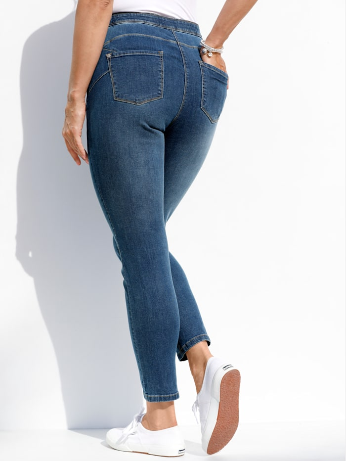 MIAMODA Jeggings mit Push-Up-Nähten, Blue stone