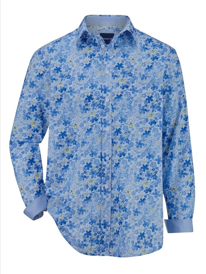 BABISTA Overhemd met trendy dessin, Blauw/Geel