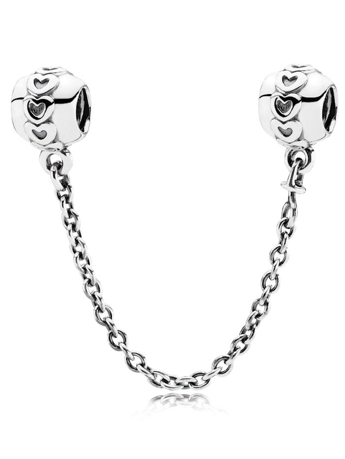 Pandora Sicherheitskette mit Herzen 791088-05, Weiß