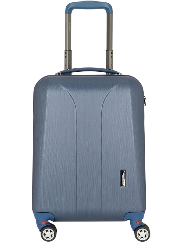 March15Trading New Carat Special Edition 4-Rollen Kabinentrolley 55 cm, navy brushed / dark lake