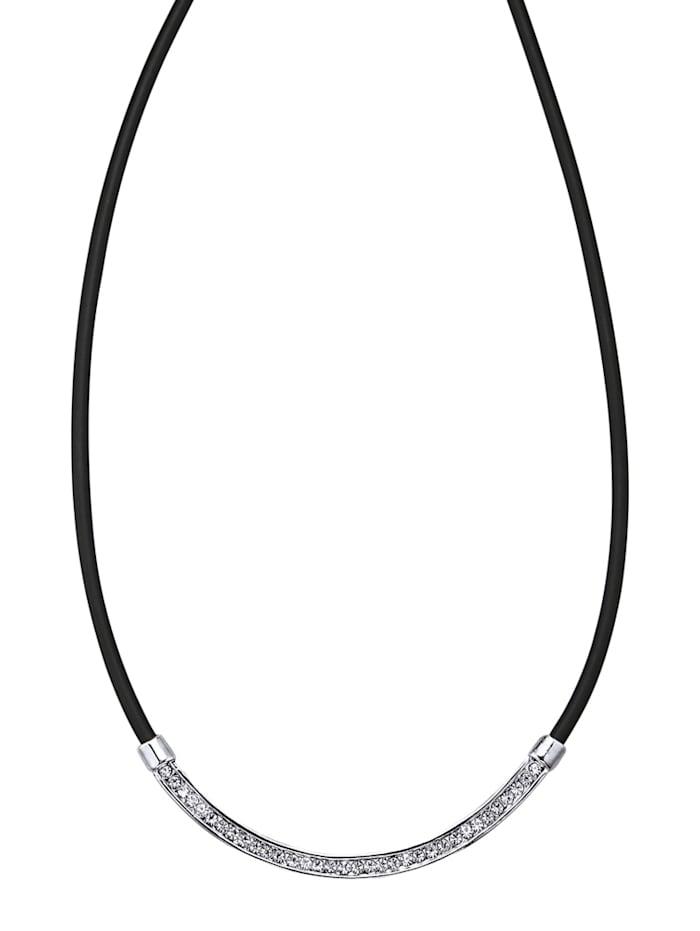KLiNGEL Collier mit Glasstein, Weiß