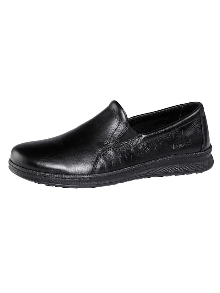 Roger Kent Slipper obuv ako domáca alebo vychádzková obuv, Čierna