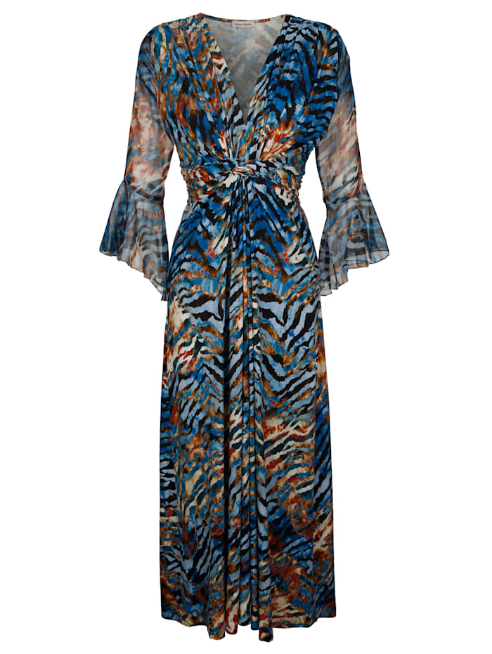 Alba Moda Strandkleid mit Chiffonärmeln, Blau