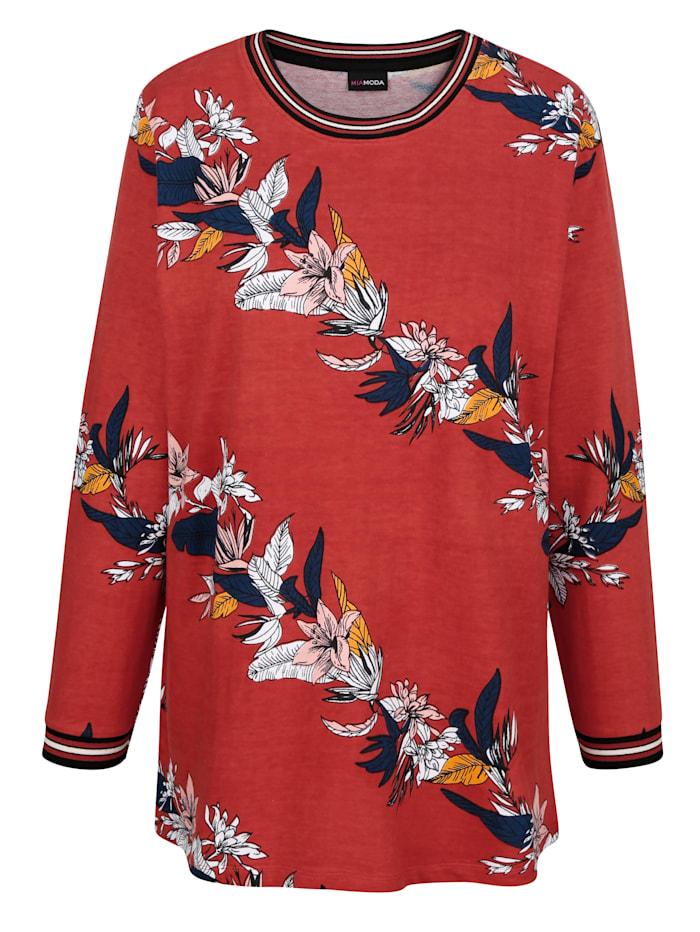 Sweatshirt met bloemenpatroon