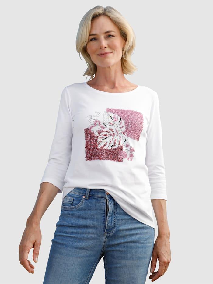 Dress In Shirt mit Paillettendekoration, Weiß