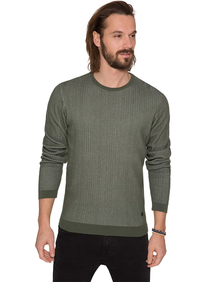 Pullover mit Jacquard-Streifen-Design