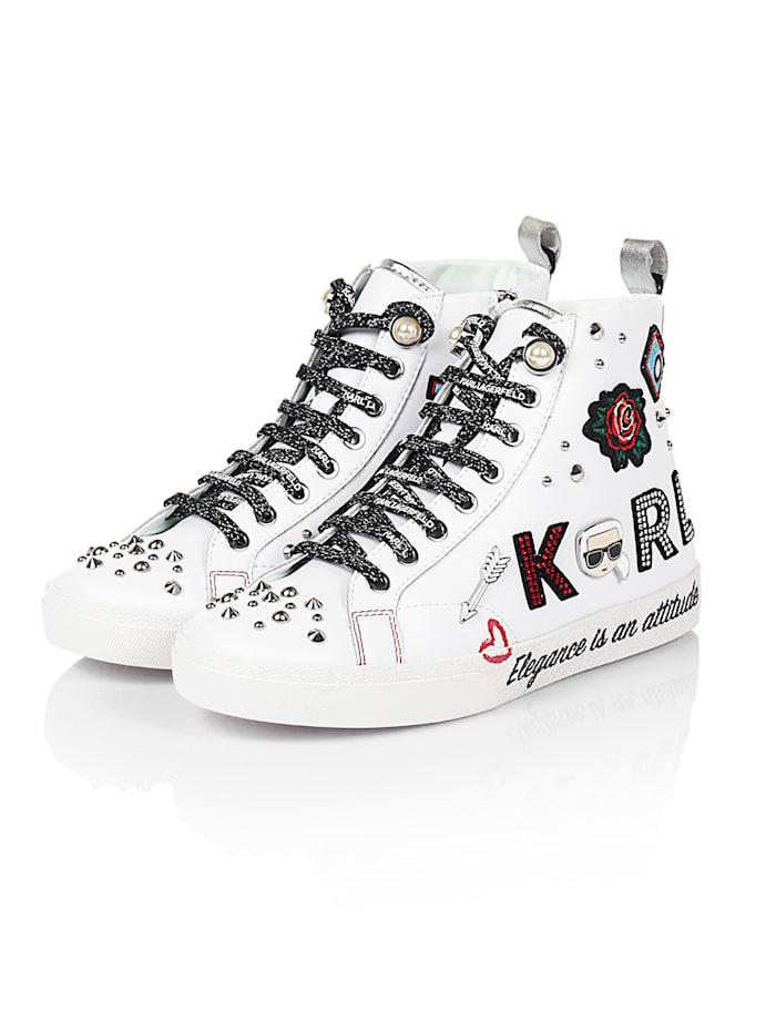 Karl Lagerfeld Hightop-Sneaker, Weiß
