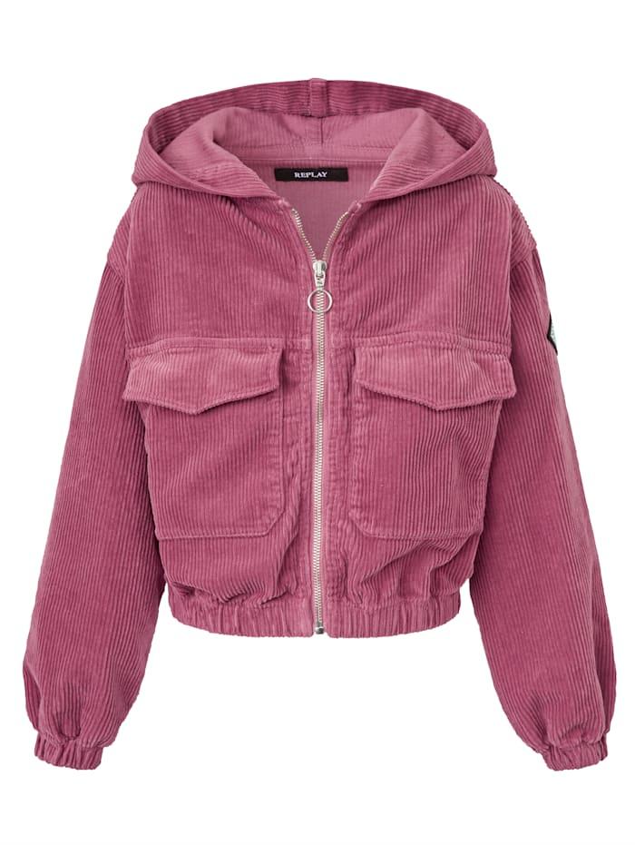 REPLAY Kids Cordjacke, Pink