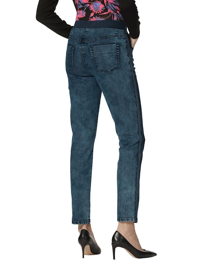 Jeans met sierband opzij