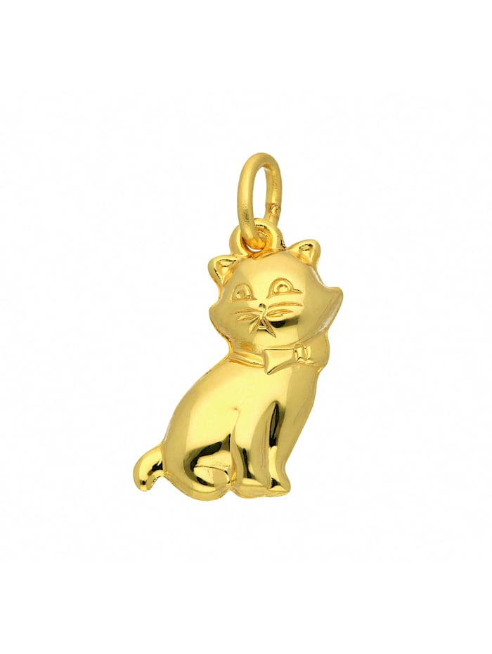 1001 Diamonds Damen Goldschmuck 333 Gold Anhänger Katze, gold