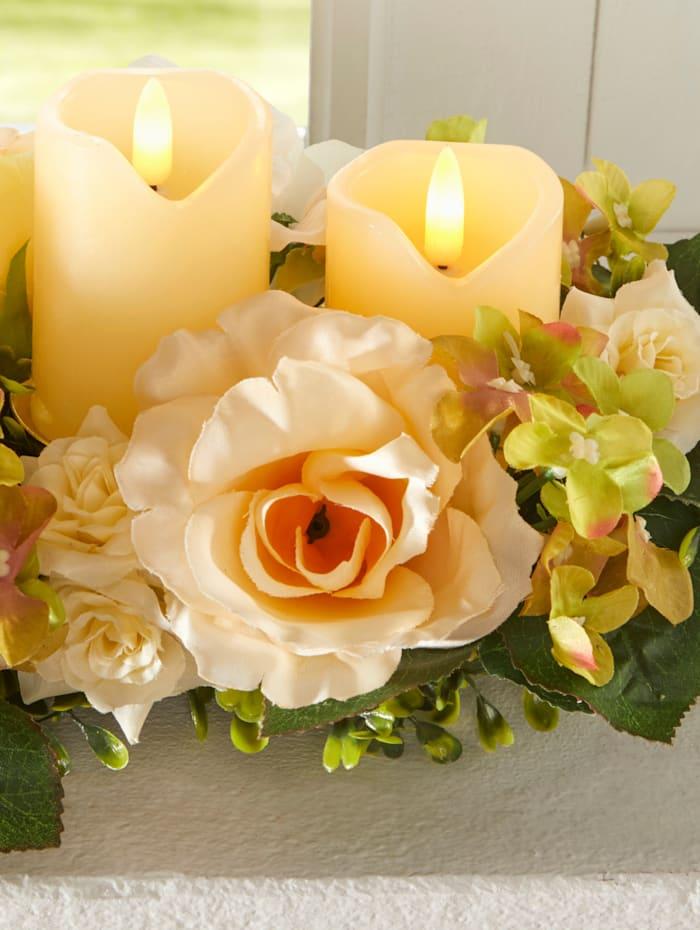 Tewa Tischgesteck Hortensie, mehrfarbig