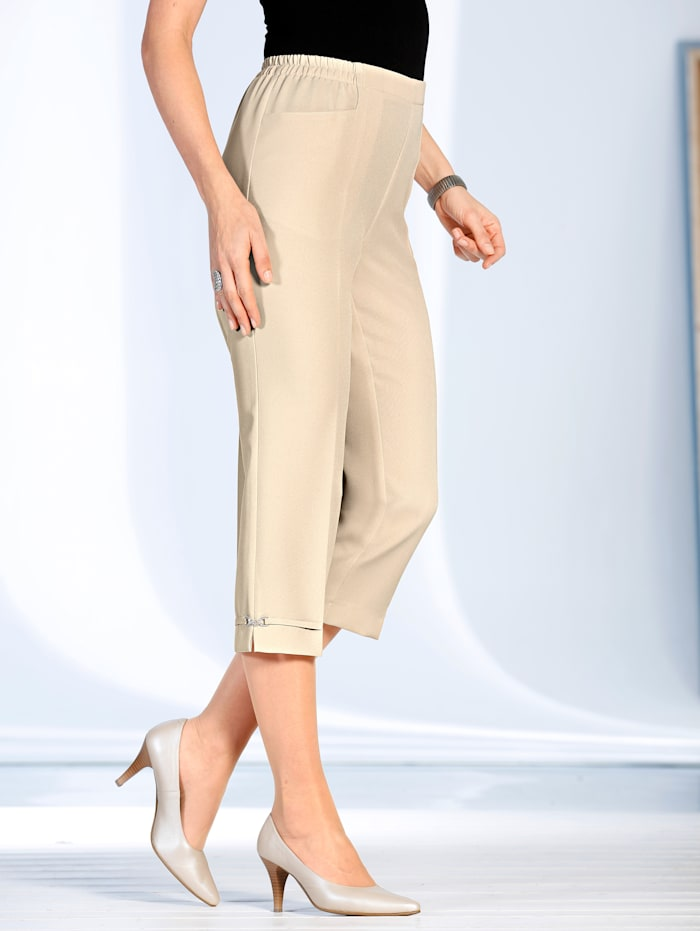 m. collection 7/8-broek in instapmodel, Beige