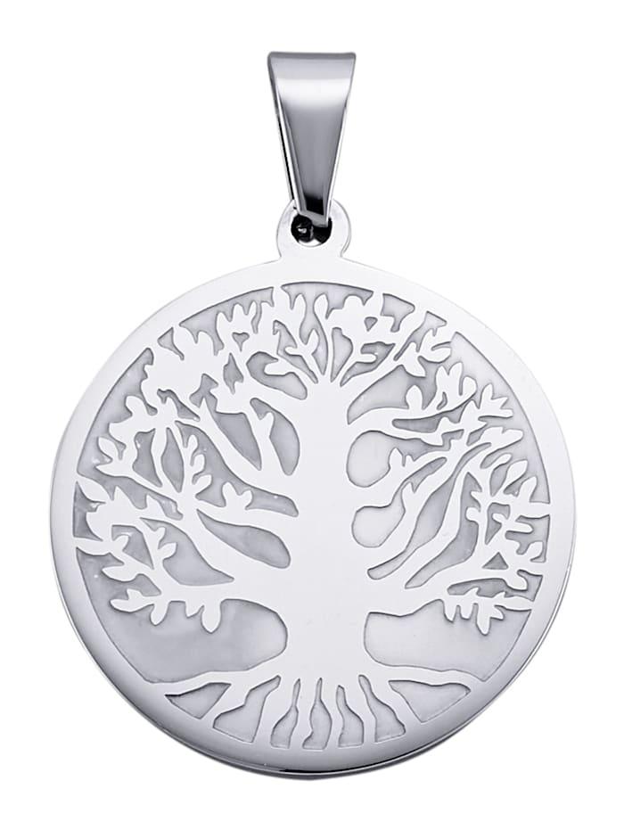 Magnetic Balance Lebensbaum-Anhänger, Silberfarben