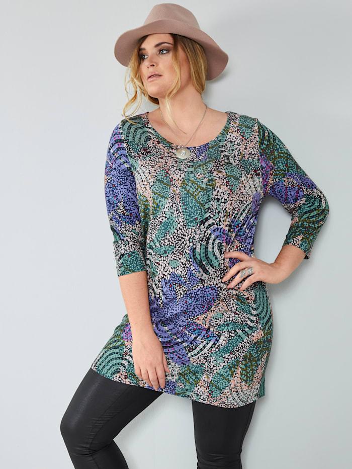 MIAMODA Longshirt Alloverprint, Multicolor