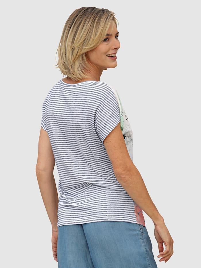 Shirt im Materialmixqualität
