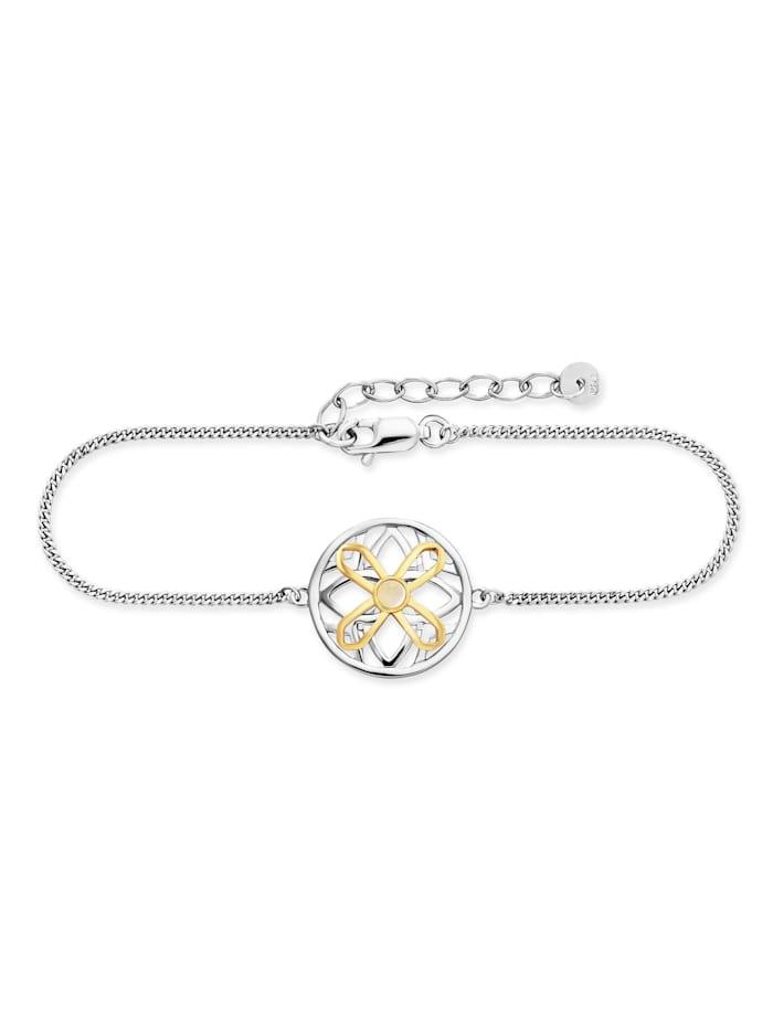CAI Armband 925/- Sterling Silber Mondstein 17+3cm Bicolor, mehrfarbig