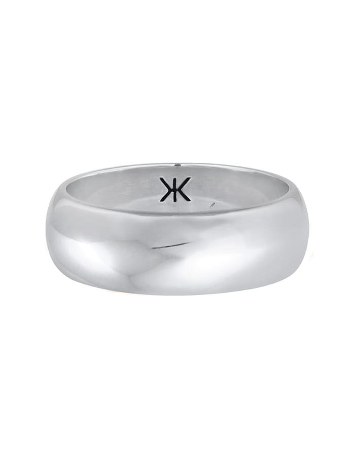 Ring Herren Bandring Basic Breit Glatt Rund 925 Silber