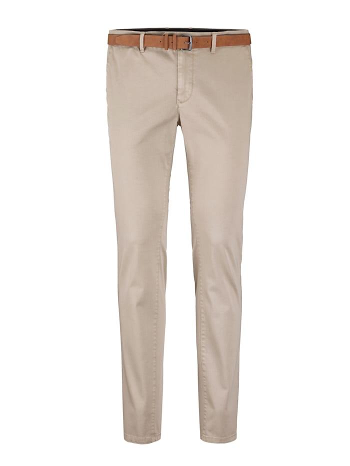 BABISTA Pantalon chino Livré avec ceinture assortie, Beige