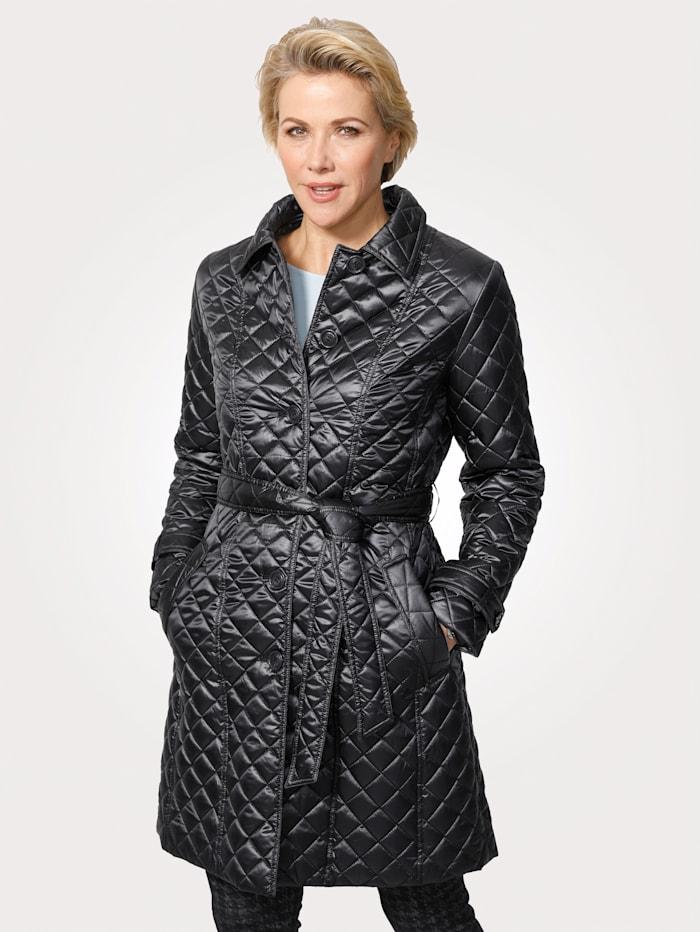 MONA Quilted coat, Dark Grey