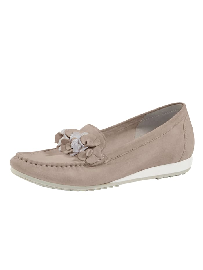 Moccasins with a breathable sole