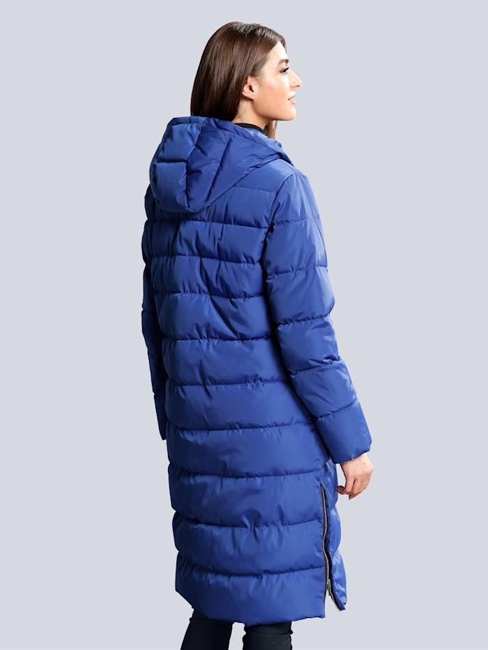 Gewatteerde jas met ritsen opzij