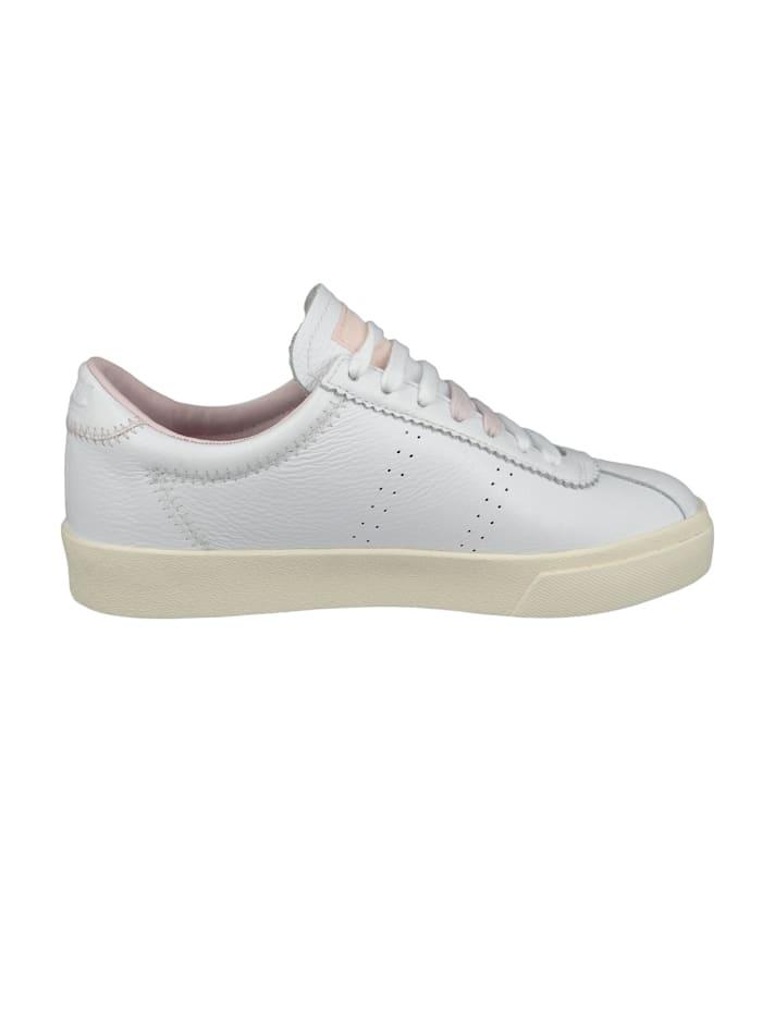 Damenschuhe-Sneaker S111WSW 2869 Club S Comfleau ZIGZAG Leder weiß A25 White Pale Lilac