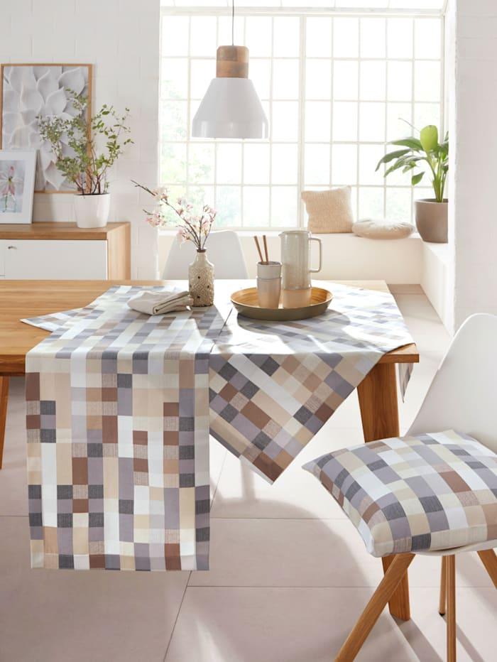 Hossner Linge de table 'Getafe', Écru/multicolore