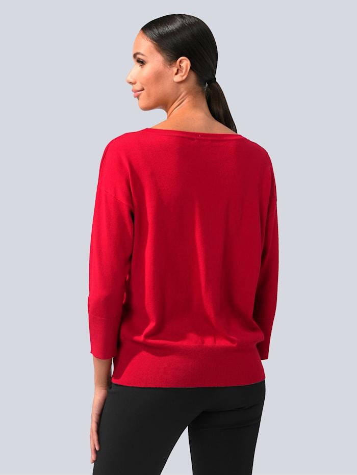 Pullover mit toniger Spitze besetzt