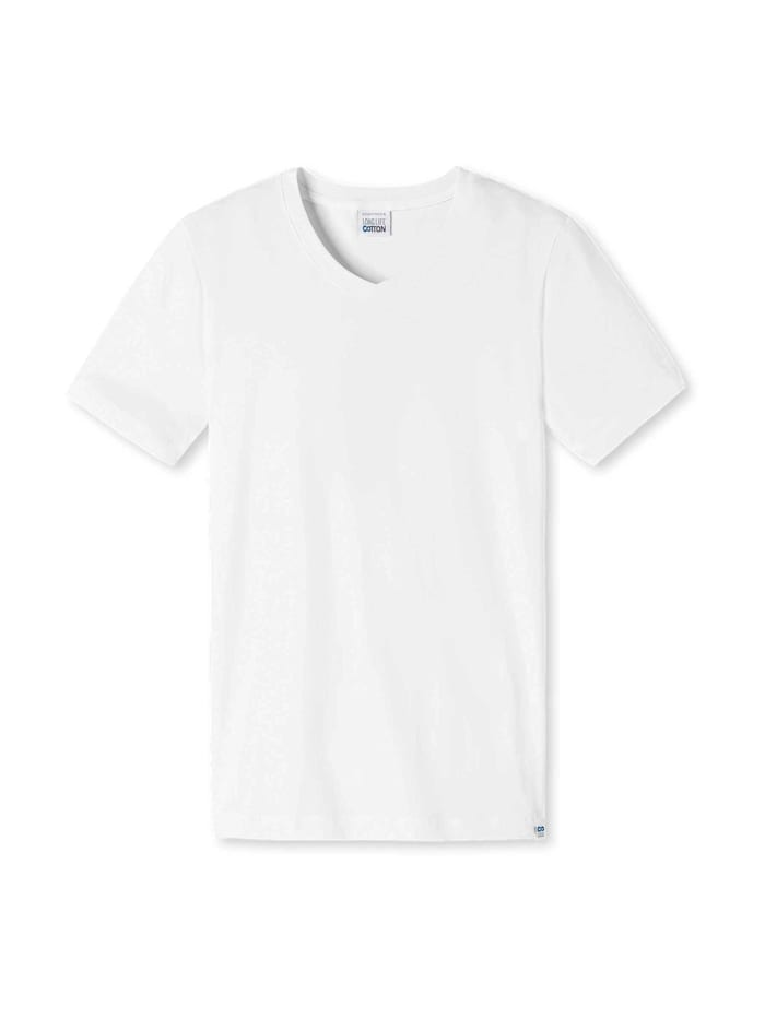 Schiesser Shirt mit V-Ausschnitt, weiss