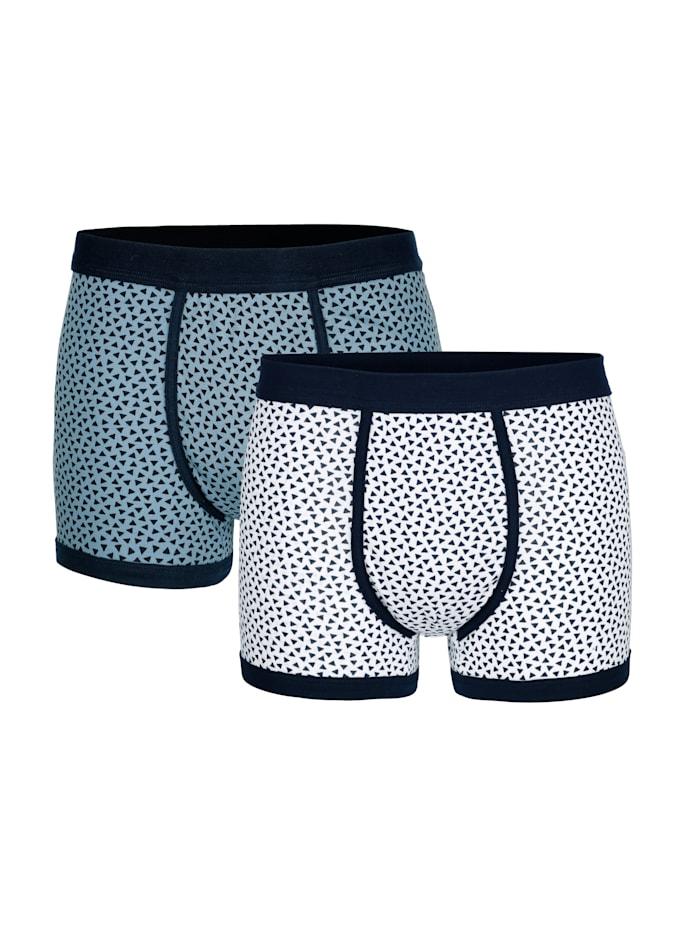 Boxershort, Blauw/Wit