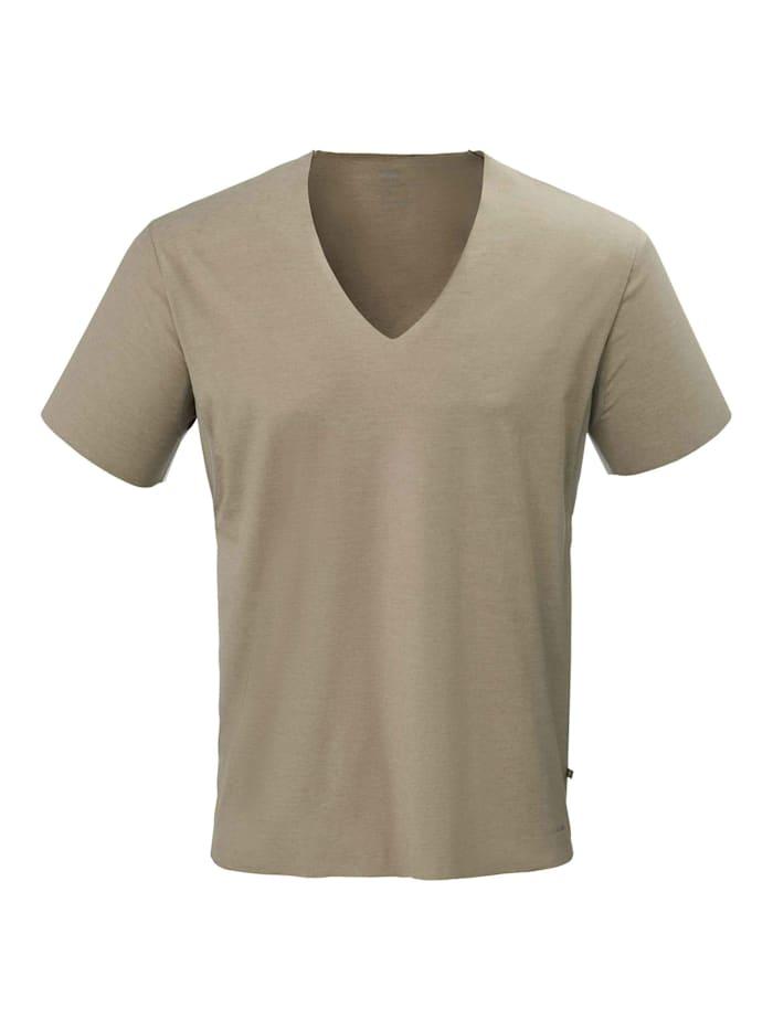 Calida V-Shirt mit Clean-Cut STANDARD 100 by OEKO-TEX zertifiziert, Bronce