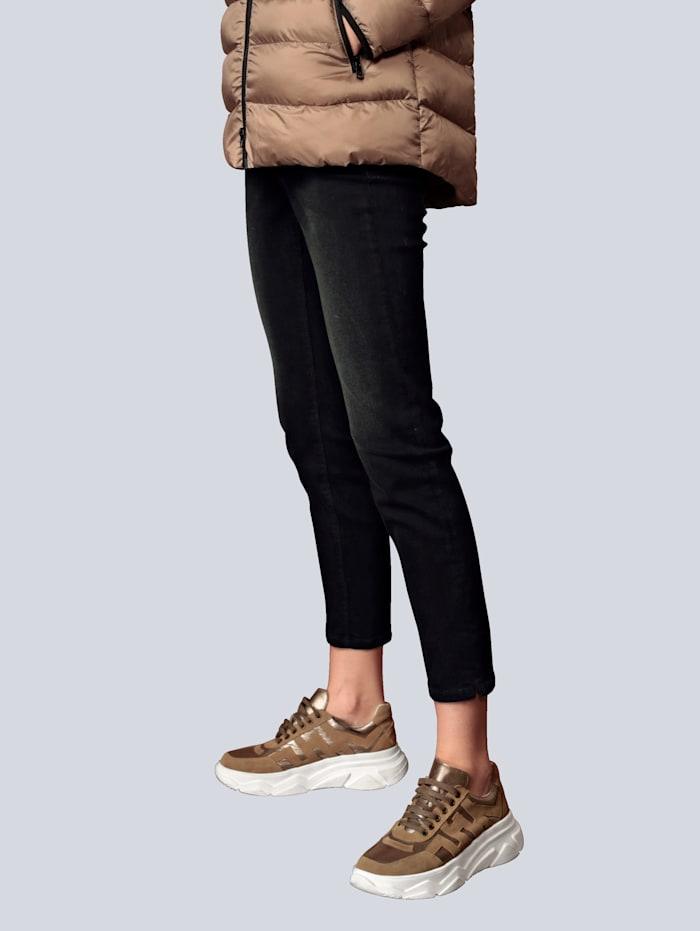 CAMBIO Jeans mit Trensendetail, Schwarz