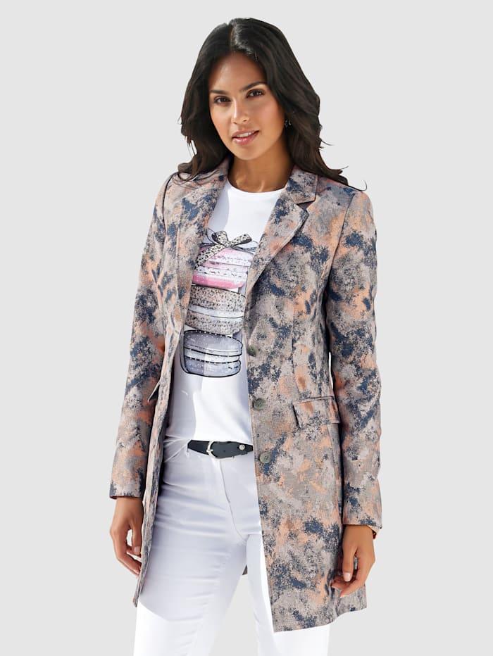 AMY VERMONT Dlhé sako s výnimočnou potlačou, Multicolor