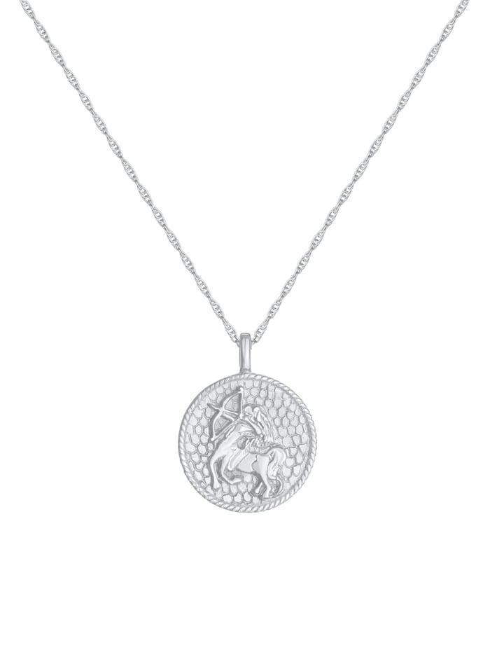Halskette Sternzeichen Schütze Astro Münze 925 Silber