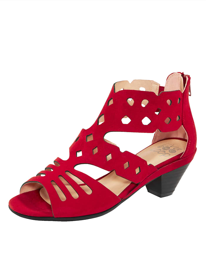 Liva Loop Sandale mit Fersenreißverschluss, Rot