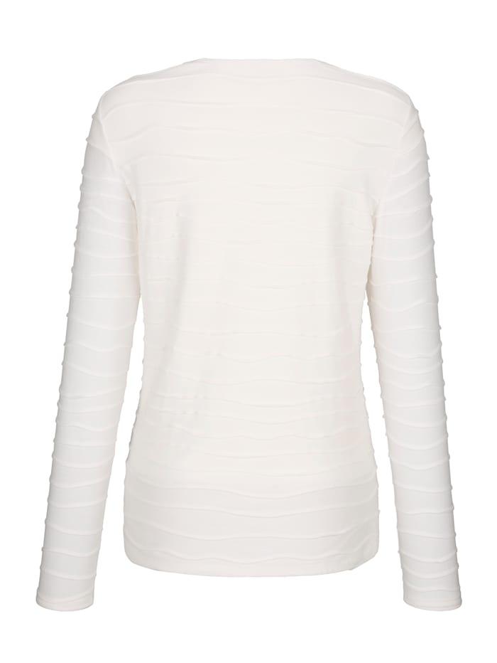 Shirt mit wellenförmigen Biesen allover