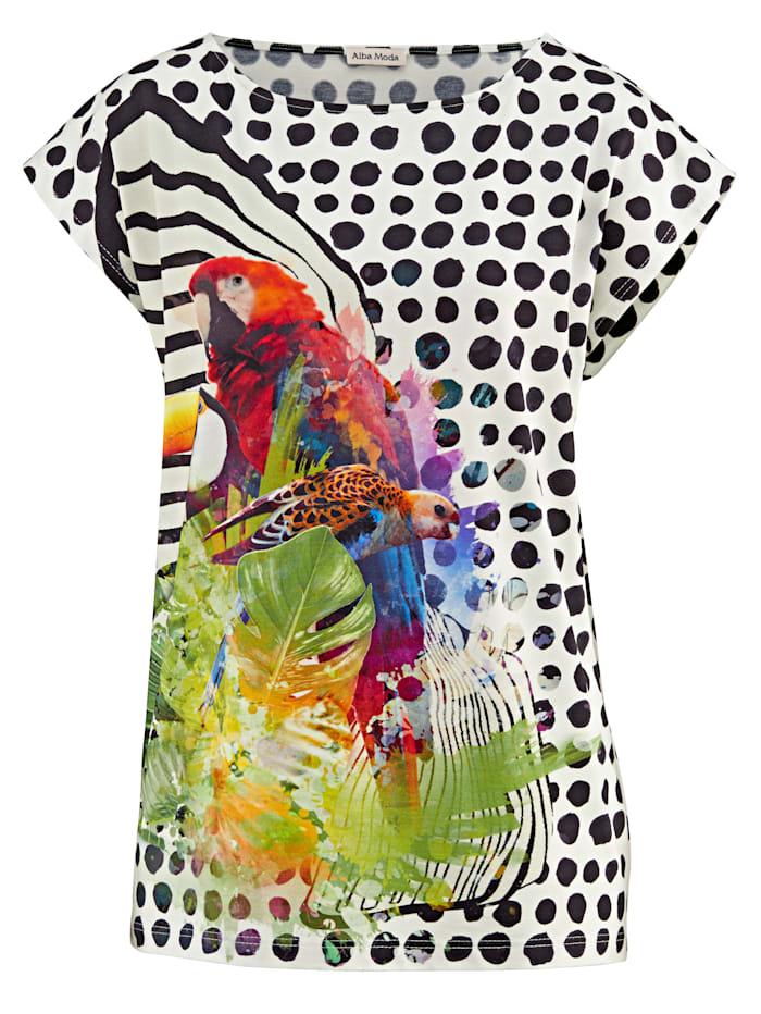 Shirt mit Vogeldruck