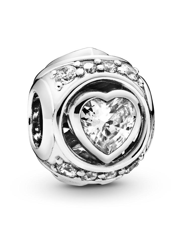 Pandora Charm -Erhöhtes Herz- 798464C01, Silberfarben