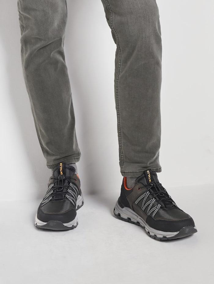 Tom Tailor Trekking Sneaker, black-khaki