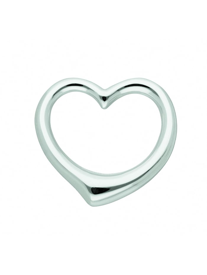 1001 Diamonds Damen Silberschmuck 925 Silber Anhänger Swingheart, silber