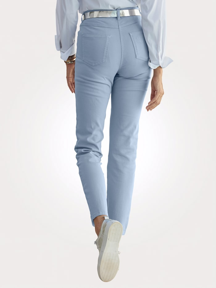 MONA Trousers with a partially elasticated waist from size 18, Light Blue