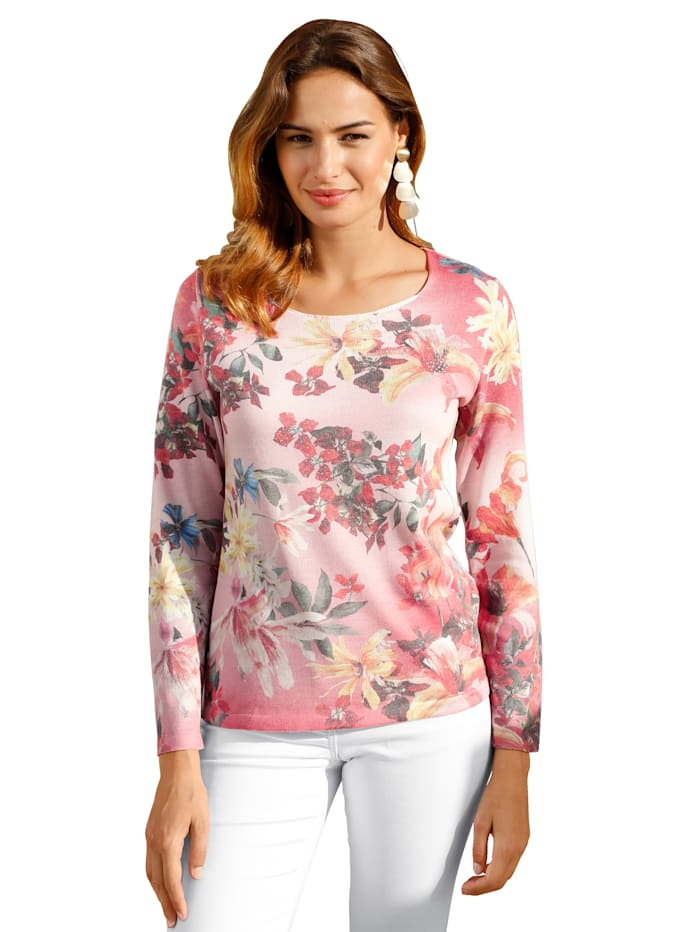 AMY VERMONT Pullover mit floralem Druck, Multicolor
