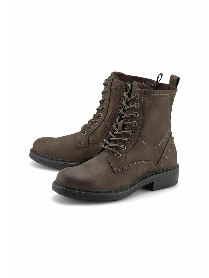 COX Schnür-Boots Schnür-Boots, mittelbraun